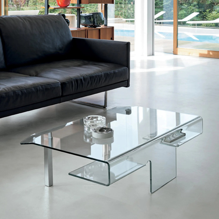 Aries curved glass coffee table by Target Point My Italian Living Living roomSide tables & trays