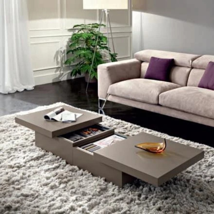 Asia transforming coffee table with storage by La Primavera My Italian Living Living roomSide tables & trays