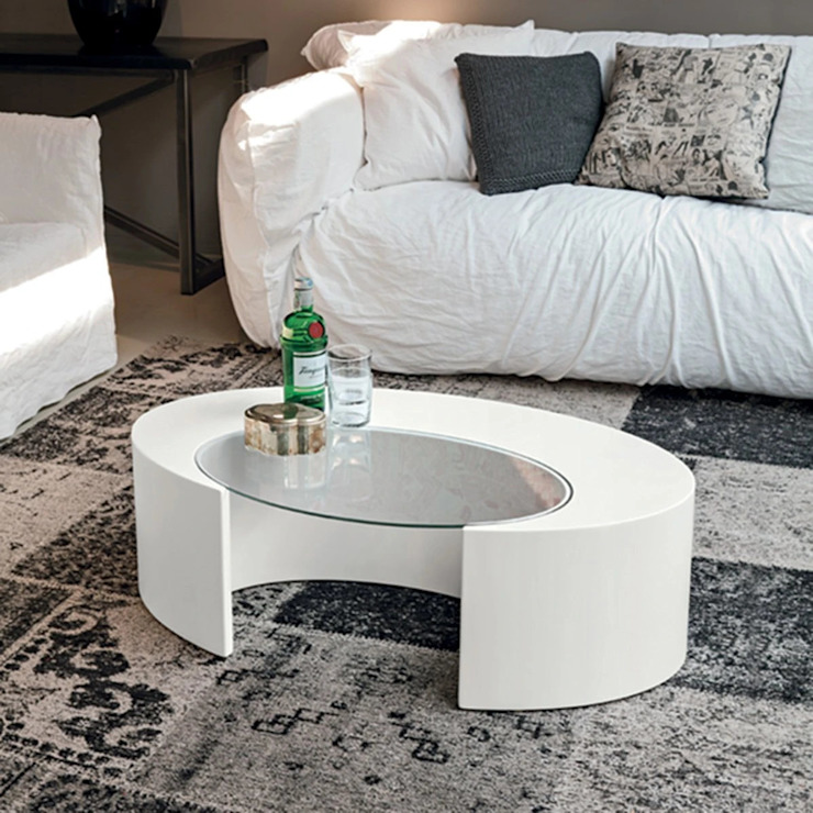 Ciclope curved wooden coffee table by Target Point My Italian Living Living roomSide tables & trays