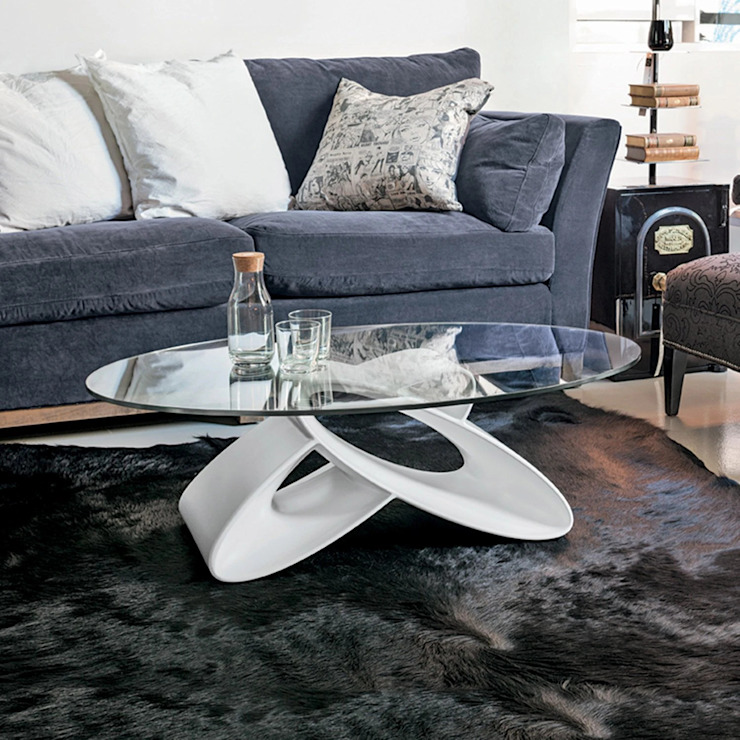 Eclipse modern sculpted coffee table by Target Point My Italian Living Living roomSide tables & trays