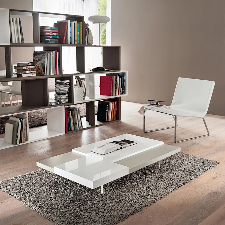 Erica contrasting coffee table by La Primavera My Italian Living Living roomSide tables & trays