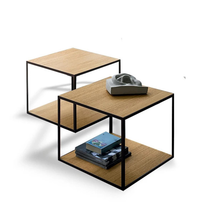 Pitagora open square coffee side table by Dall'Agnese My Italian Living Living roomSide tables & trays