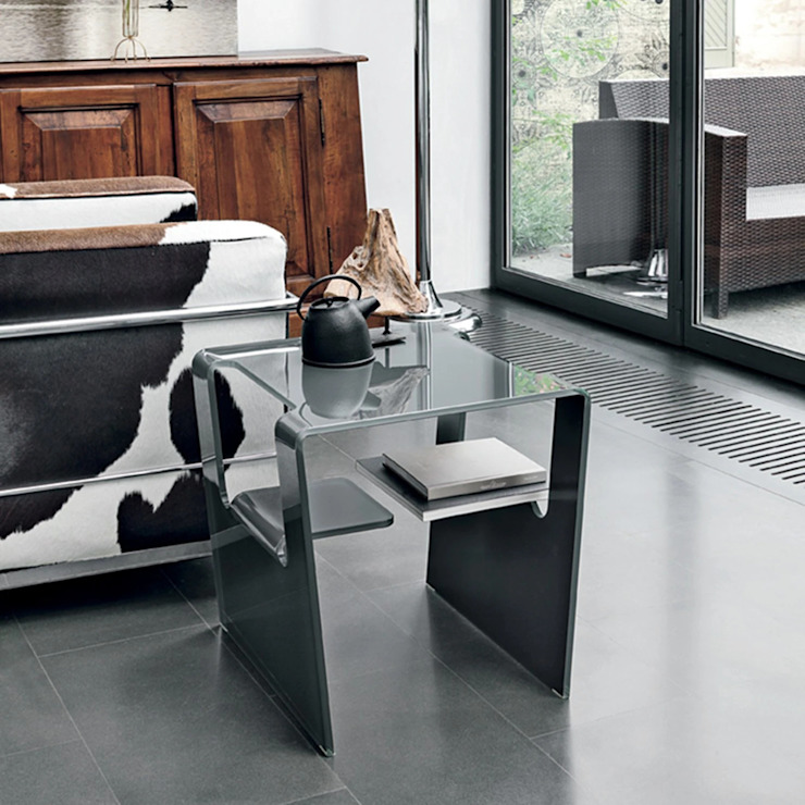 Proteo curved glass coffee table by Target Point My Italian Living Living roomSide tables & trays