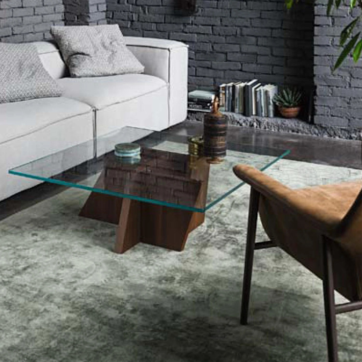 Stripe wooden staggered base coffee table by Dall'Agnese My Italian Living Living roomSide tables & trays