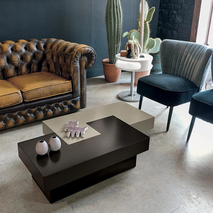 Tetris modular lacquered coffee table by Target Point My Italian Living Living roomSide tables & trays