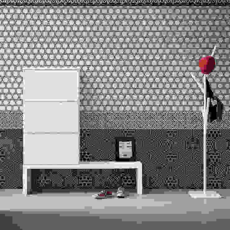 Minima suspended 3 door shoe storage & bench by Birex My Italian Living Corridor, hallway & stairsStorage