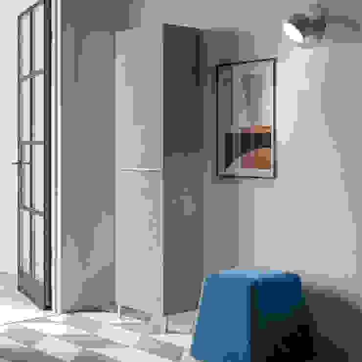 Linear Hallway shoe organiser with mirror door 50cm by Birex My Italian Living Corridor, hallway & stairsStorage
