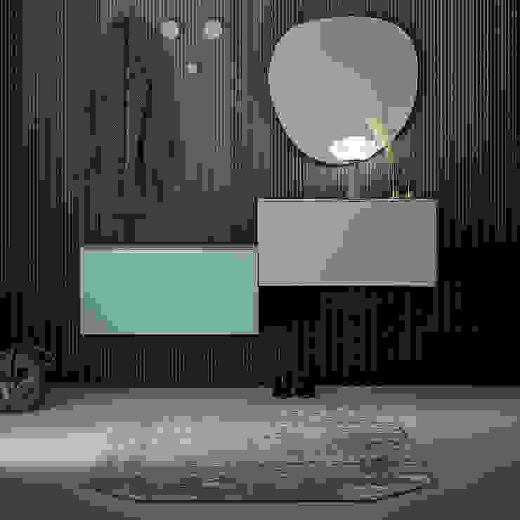XL suspended multicoloured shoe storage units by Birex My Italian Living Corridor, hallway & stairsStorage
