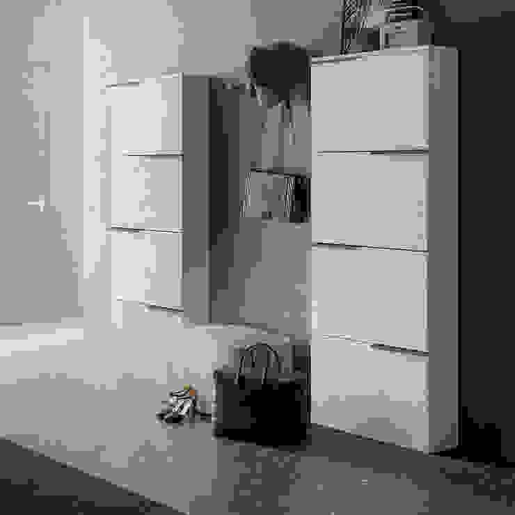XL slim wooden shoe storage unit by Birex My Italian Living Corridor, hallway & stairsStorage