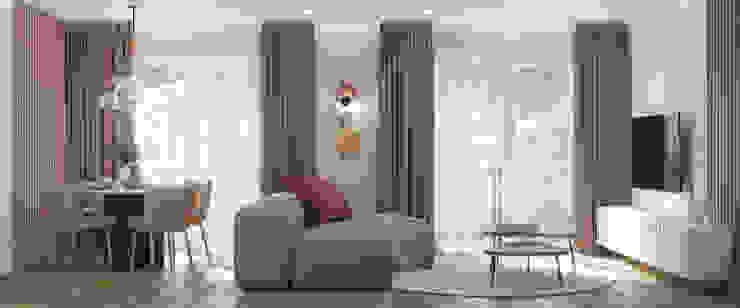 Nevi Studio Livings de estilo clásico Madera Beige