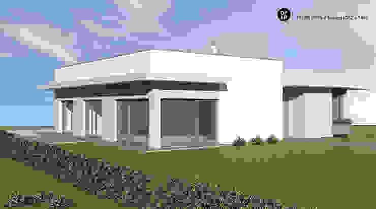 Casa Torga . Moita ATELIER OPEN ® - Arquitetura e Engenharia Casas pré-fabricadas Cerâmica Branco