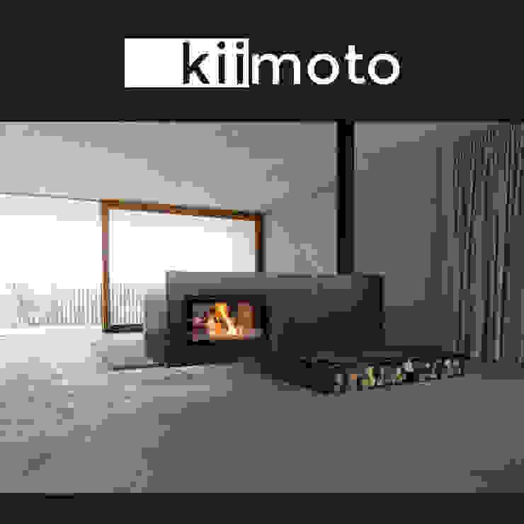 kiimoto kamine Living roomFireplaces & accessories Iron/Steel Black