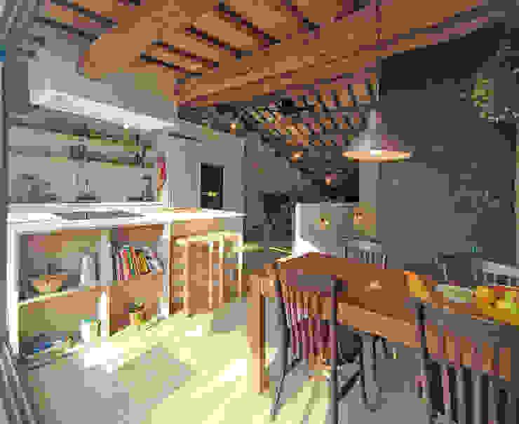 Comedor Comedores de estilo moderno de ecoarquitectura Moderno