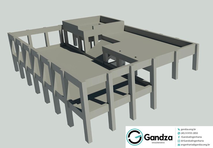 GANDZA ENGENHARIA Pool Concrete