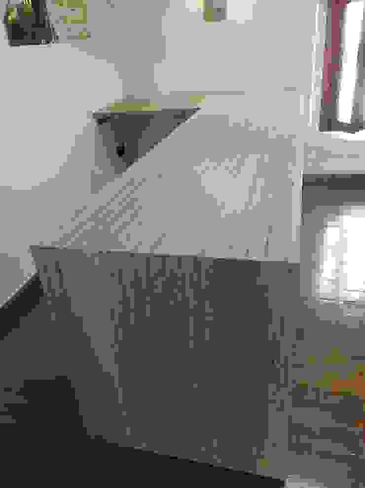 Carpintería área 59 Mediterranean style office buildings Solid Wood Wood effect