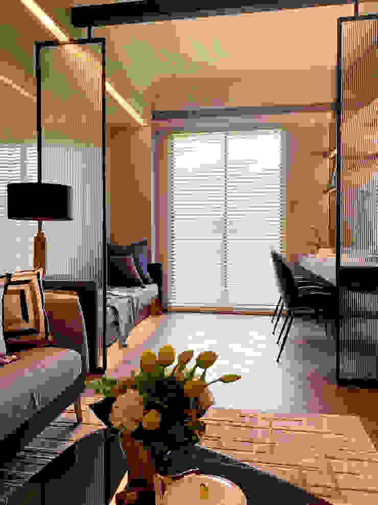 MSBT 幔室布緹 Salas de estilo moderno Derivados de madera Acabado en madera
