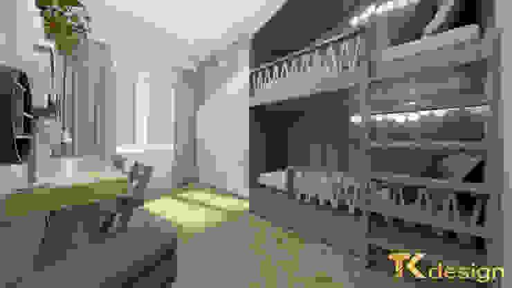 Pokój dziecięcy TK design Nowoczesny pokój dziecięcy Niebieski
