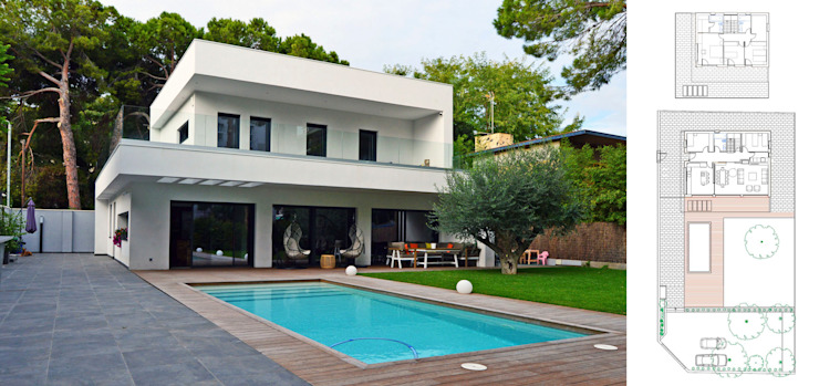 Vivienda unifamiliar energéticamente autosuficiente jjdelgado arquitectura Casas de estilo minimalista