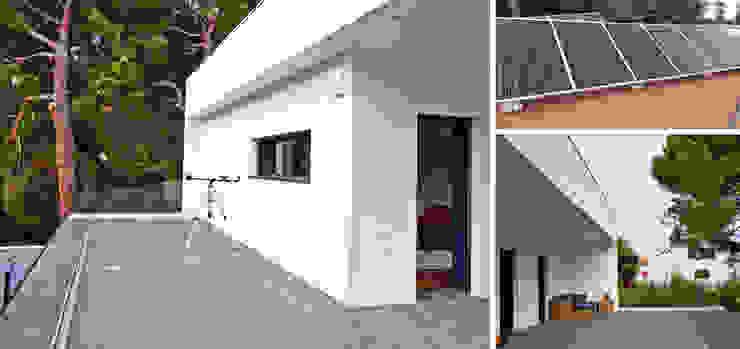 Vivienda unifamiliar energéticamente autosuficiente jjdelgado arquitectura Balcones y terrazas de estilo minimalista