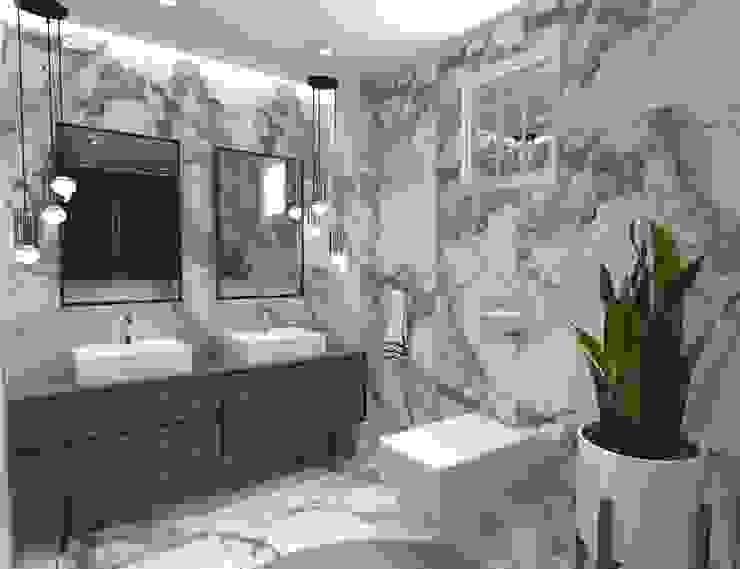 Tepekent villaları banyo tasarımı_ 50GR Mimarlık Modern Banyo
