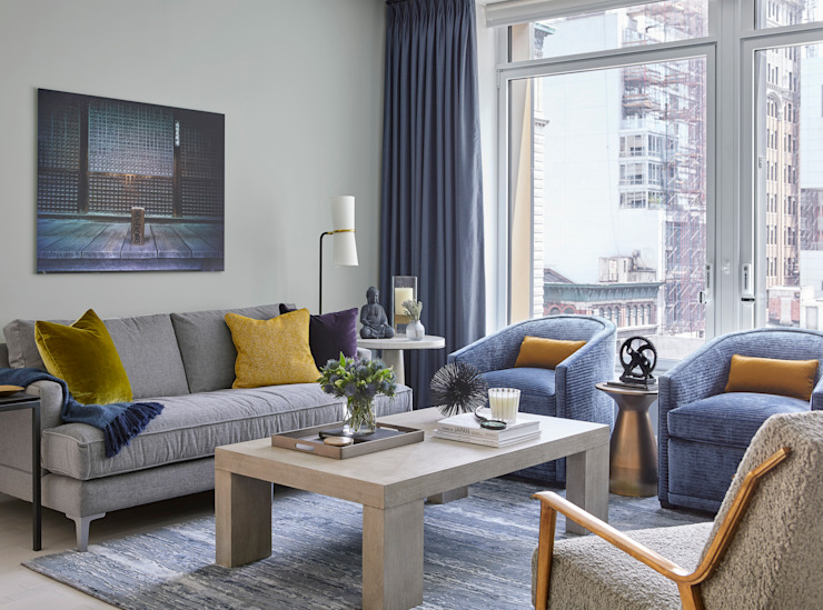 Darci Hether New York Ruang Keluarga Modern