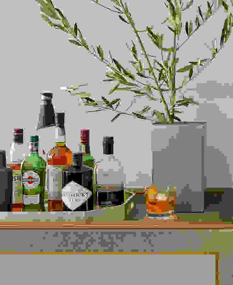 Darci Hether New York Ruang Penyimpanan Wine/Anggur Modern