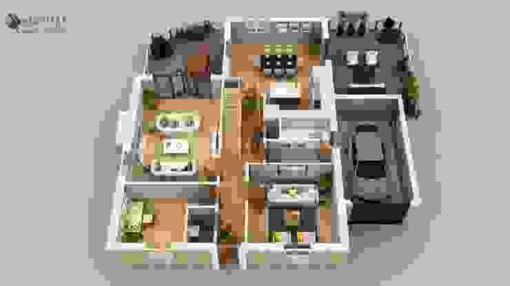 Yantram Architectural Design Studio Corporation Lantai Brown