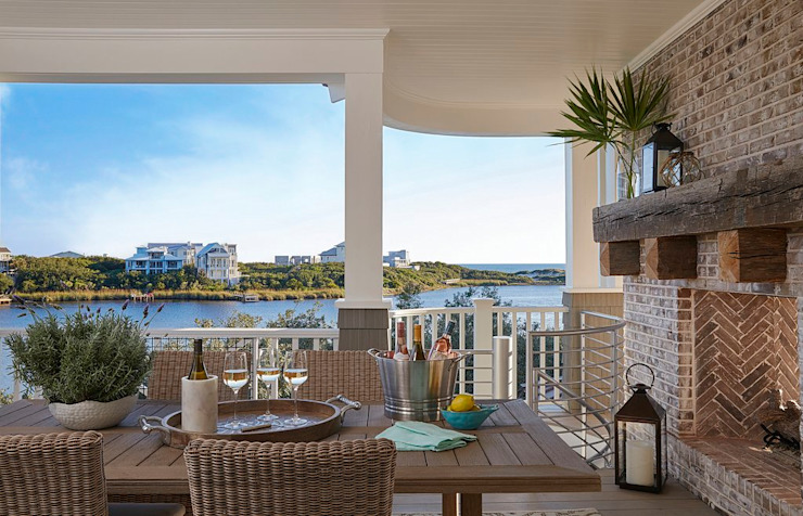 Watersound beach new construction with gulf and lake views Darci Hether New York Modern Terrace