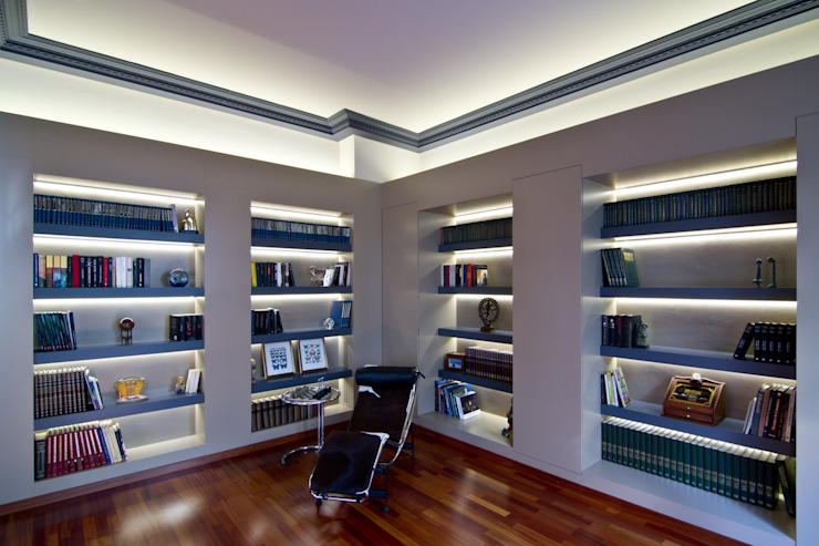 MANUEL TORRES DESIGN Modern Study Room and Home Office