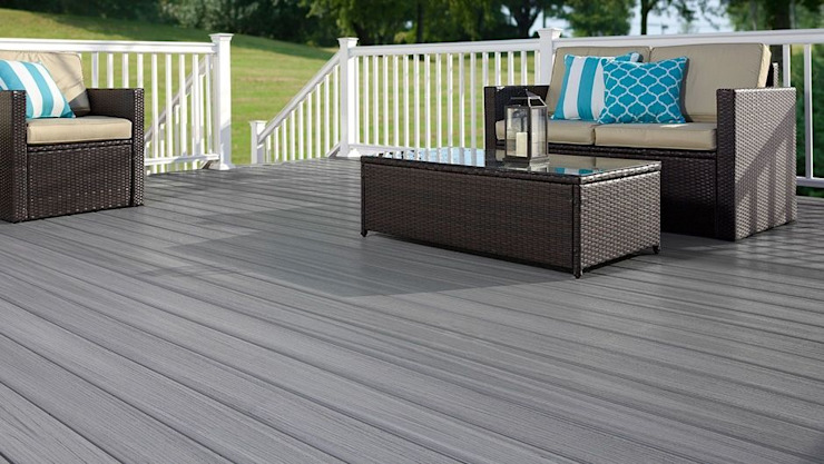 Exclusieve tuinproducten Modern Terrace Wood-Plastic Composite Grey