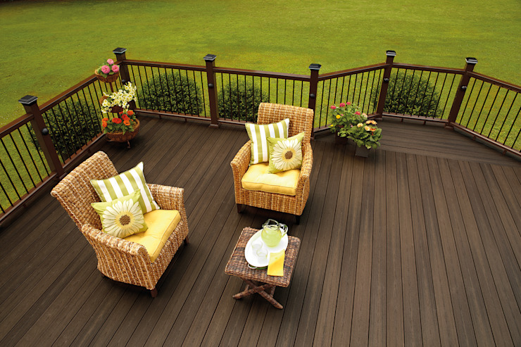 Exclusieve tuinproducten Modern Terrace Wood-Plastic Composite Brown