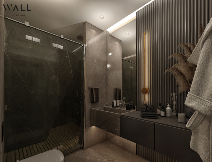 WALL INTERIOR DESIGN Modern bathroom