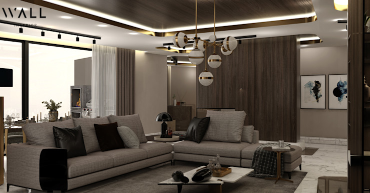 WALL INTERIOR DESIGN Livings de estilo moderno