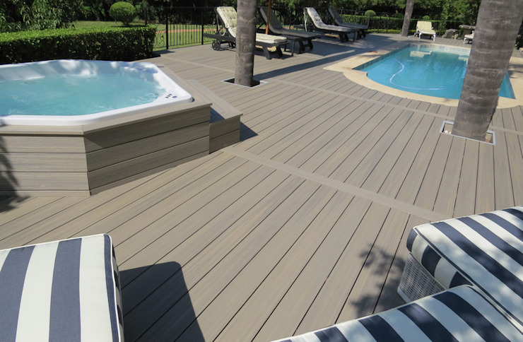 Exclusieve tuinproducten Modern Terrace Engineered Wood Grey
