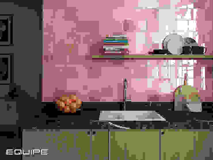 Equipe Ceramicas Mediterranean style kitchen Tiles Pink