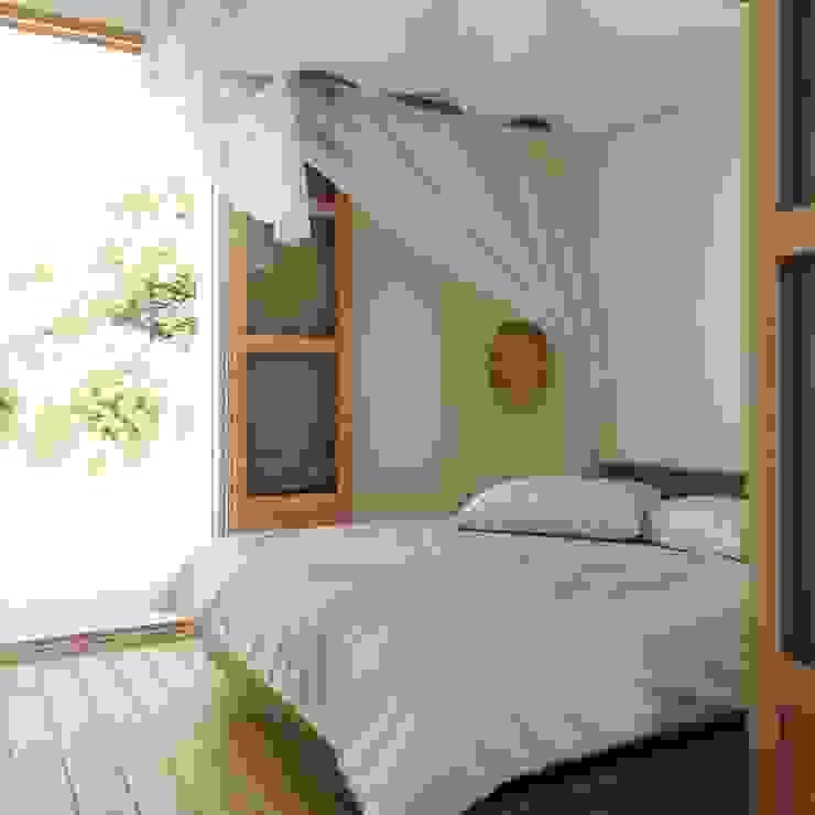 Vista del dormitorio. ponyANDcucoBYgigi Dormitorios pequeños