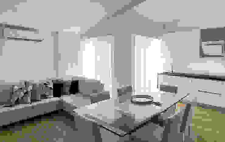 Sala de Estar Moderna Cortinas e Cortinados Sala de estarAcessórios e Decoração Têxtil Branco