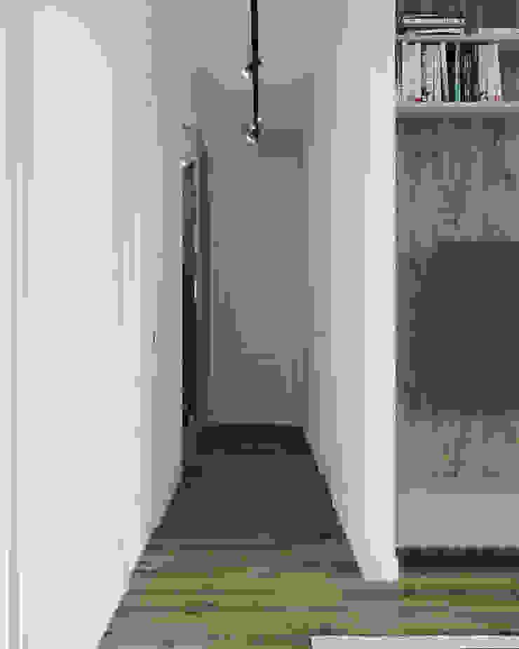 Nevi Studio Ingresso, Corridoio & Scale in stile classico Bianco