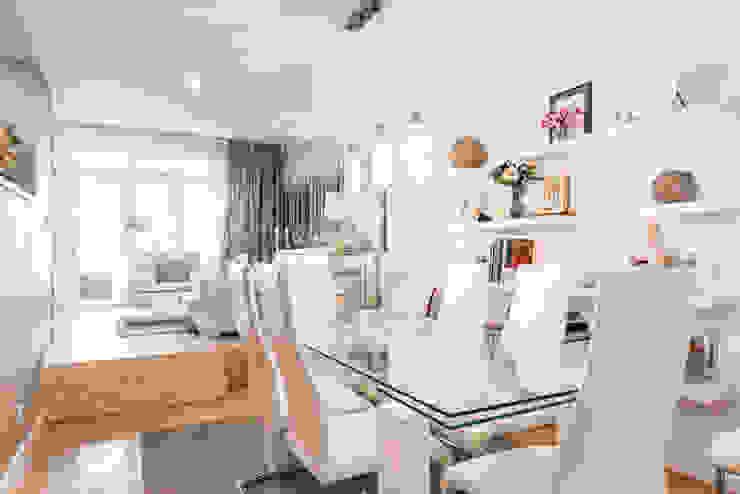 ARESAN PROYECTOS Y OBRAS SL Столовая комната в стиле модерн Белый