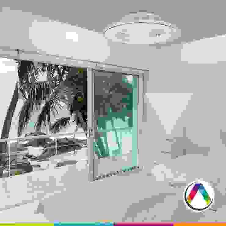 Plafón ventilador ALISIO Oficinas y tiendas de estilo moderno de La Casa de la Lámpara Moderno