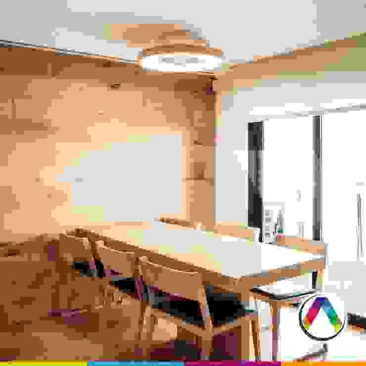 Plafón de techo y ventilador TIBET Oficinas y tiendas de estilo moderno de homify Moderno