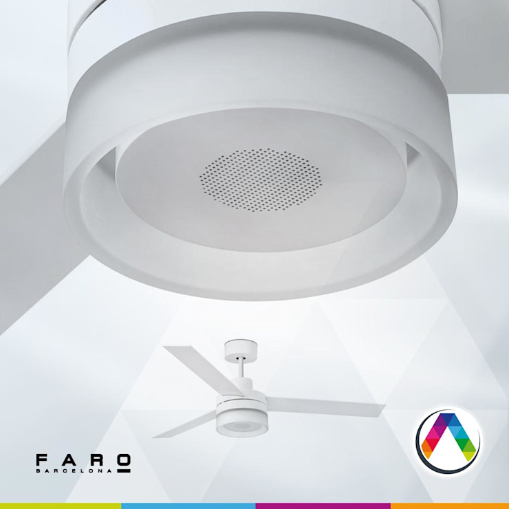 Ventilador con luz LED y sonido Oficinas y tiendas de estilo moderno de La Casa de la Lámpara Moderno