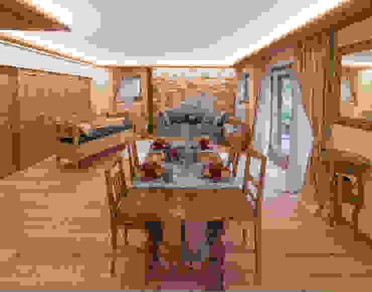 Maison alpina Nel Primiero Sala da pranzo in stile classico di Gregory Interior Photo Classico