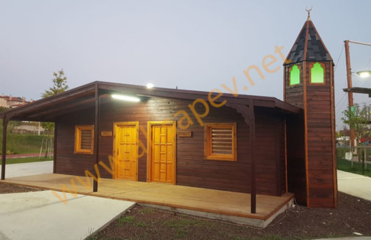 WOODEN MASJID SİSNELİ AHŞAP EV - AĞAÇ EV - KÜTÜK EV - BUNGALOV -KAMELYA Wooden houses