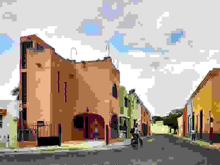 Quinto Distrito Arquitectura Small houses Concrete Pink
