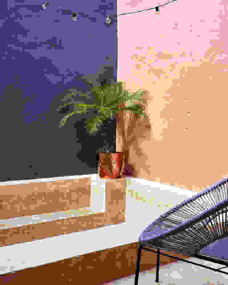Quinto Distrito Arquitectura Tropical style pool Concrete Blue