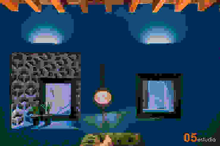 Vista del salón. 05 Estudio Salones de estilo ecléctico