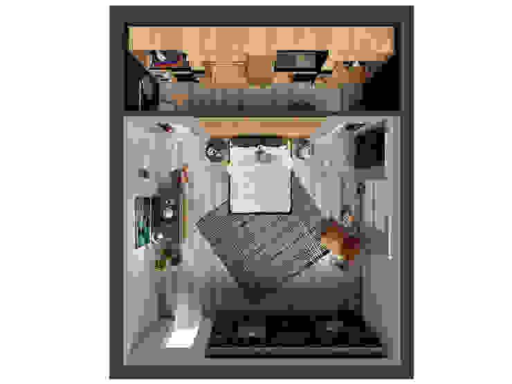 La camera da letto di Cristina e Luigi Camera da letto moderna di PF Interior Design Moderno Legno massello Variopinto