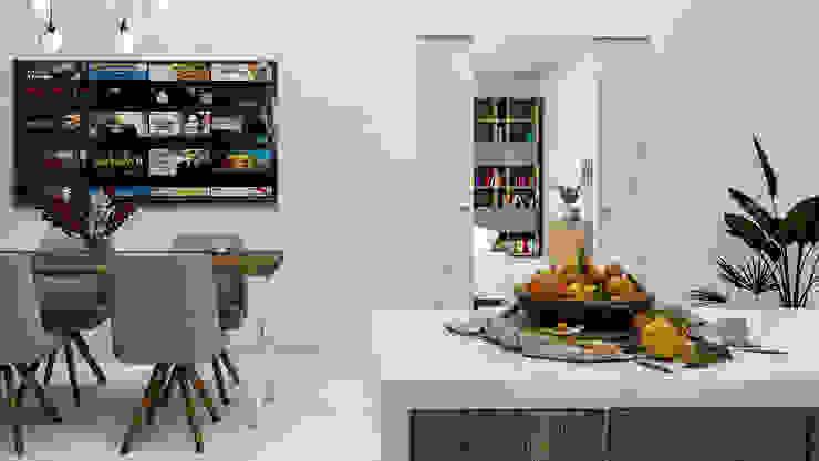 La nuova cucina di Francesca e Filippo PF Interior Design Cucina moderna Legno massello Effetto legno
