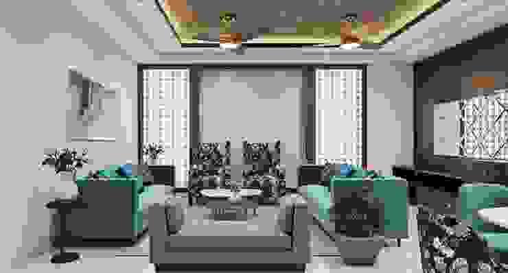 Refined Living room design Lakkad Works Modern living room